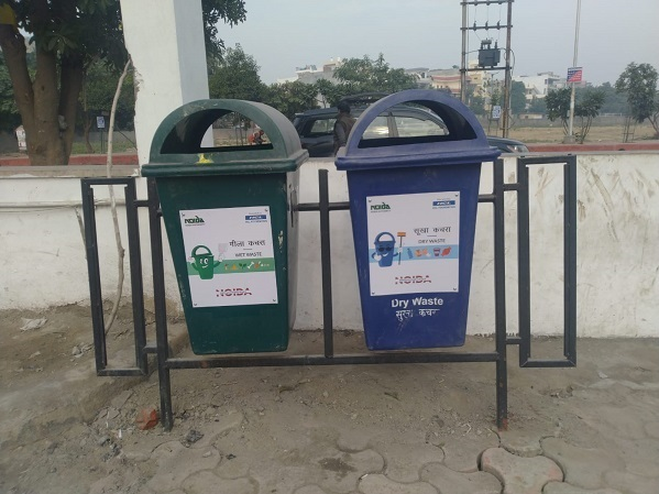 Twin litter bins