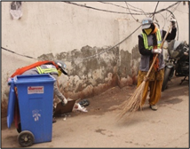 Figure 2 Street sweeping in Model Urban Village